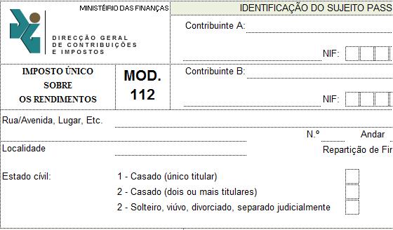 Modelo112 em Excel